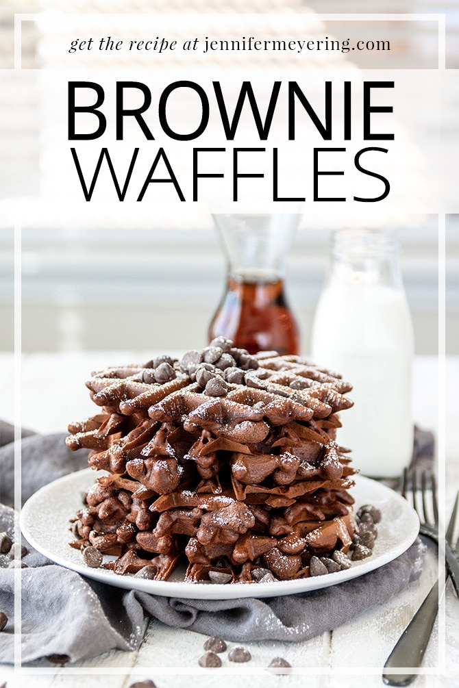 Brownie Waffles - JenniferMeyering.com