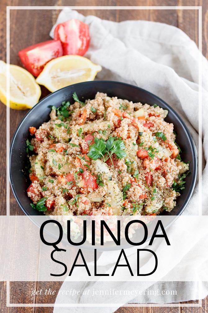 Quinoa Salad - JenniferMeyering.com