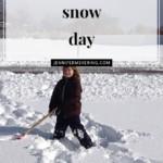 First Snow Day! - JenniferMeyering.com