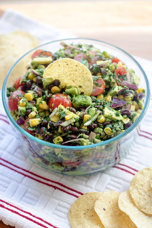 Corn, Avocado, Black Bean Summer Salad