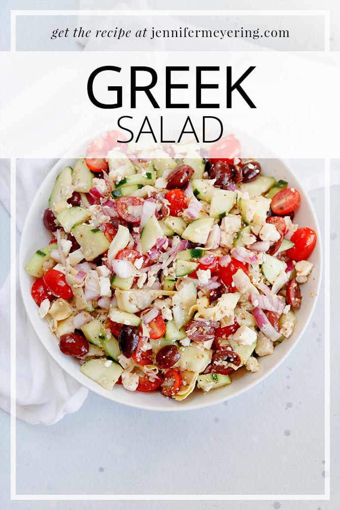 Greek Salad - JenniferMeyering.com