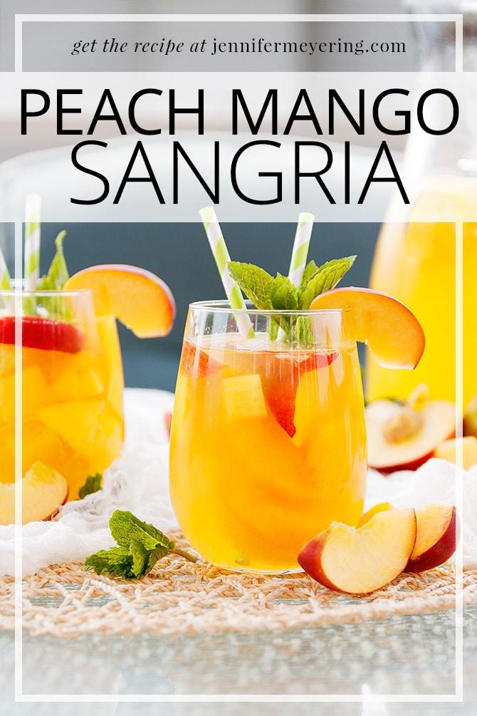 Peach Mango Sangria   JenniferMeyering.com