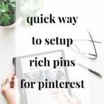 Quick Way to Set Up Rich Pins on Pinterest - JenniferMeyering.com
