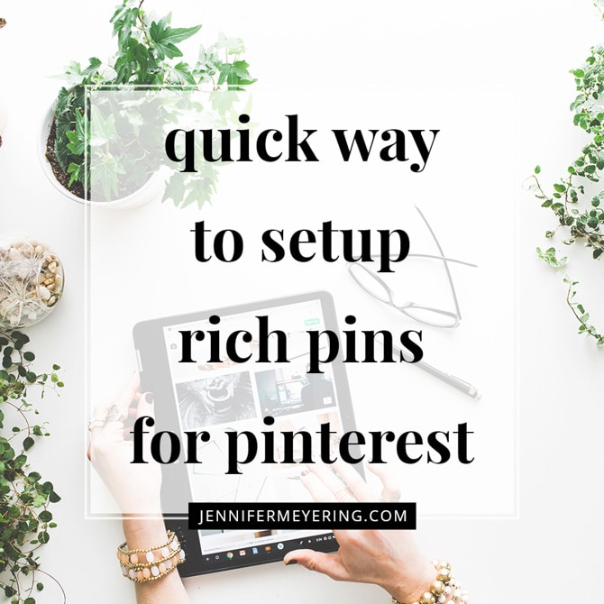 """Quick Way to Set Up """"Rich Pins"""" on Pinterest"""