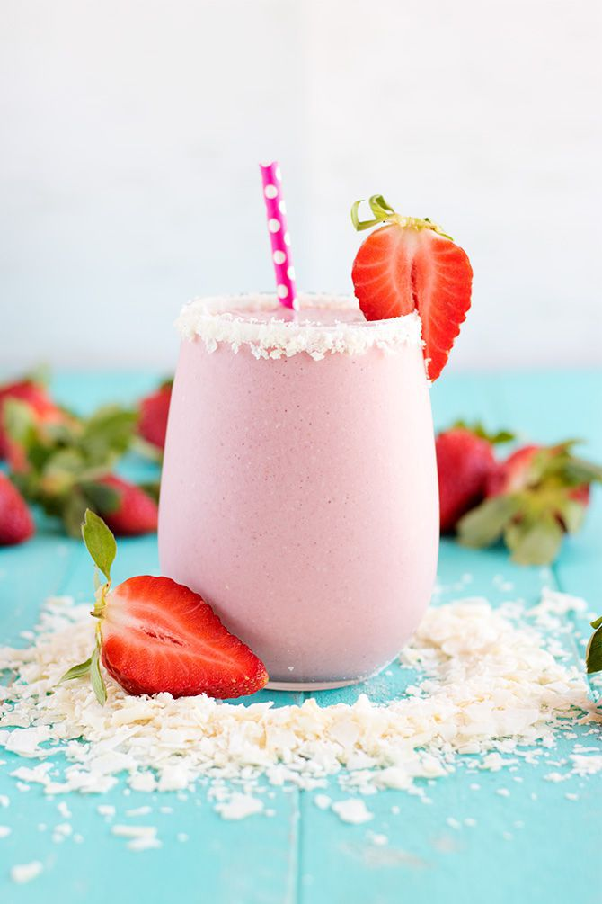 Strawberry Coconut Protein Shake