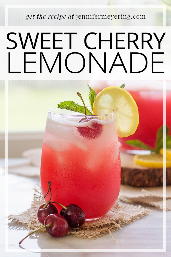Cherry Lemonade - JenniferMeyering.com