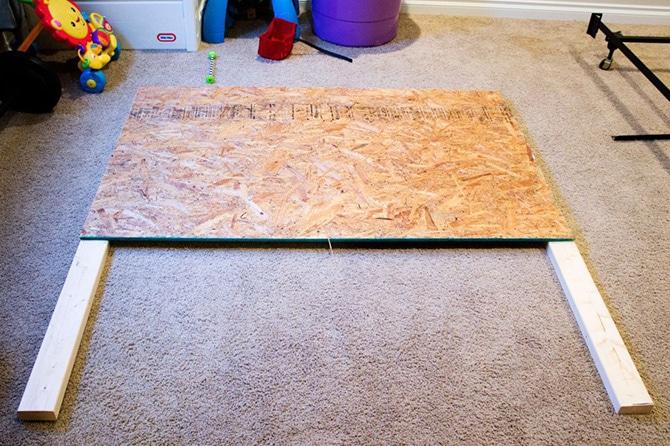 Fabric Headboard with Nailhead Trim