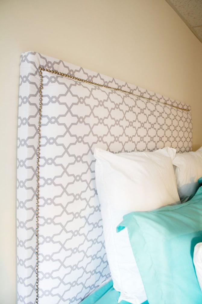 DIY Fabric Headboard - Jennifer Meyering