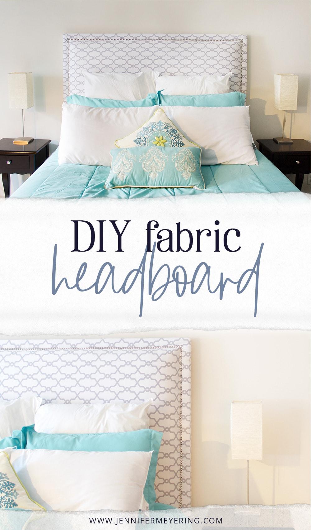 DIY Fabric Headboard -- JenniferMeyering.com
