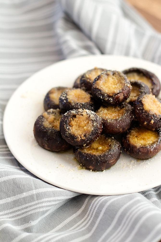 Garlic Butter Roasted Mushrooms - Jennifer Meyering