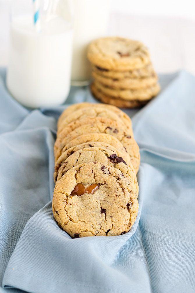 Chocolate Chip Caramel Cookies