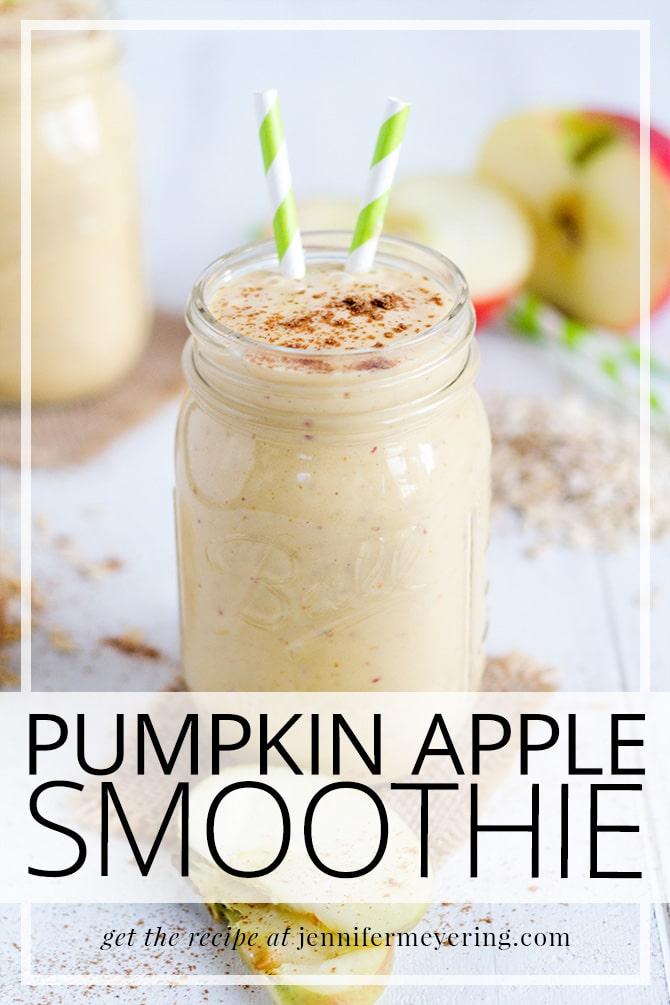 Pumpkin Apple Smoothie - JenniferMeyering.com