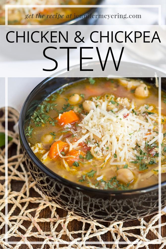Chicken & Chickpea Stew - JenniferMeyering.com