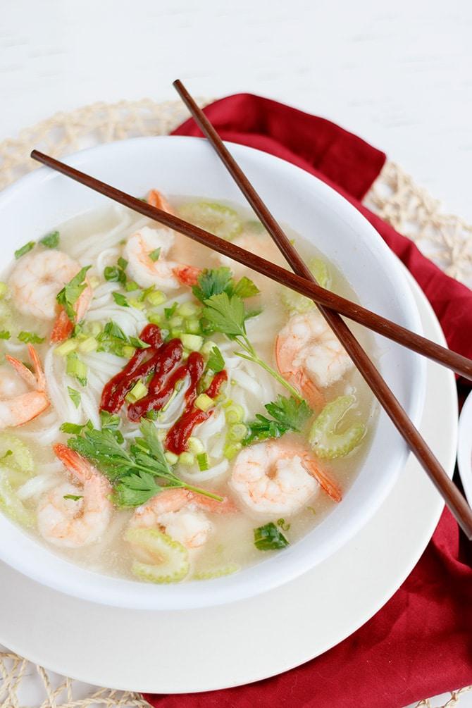 Spicy Asian Shrimp Soup