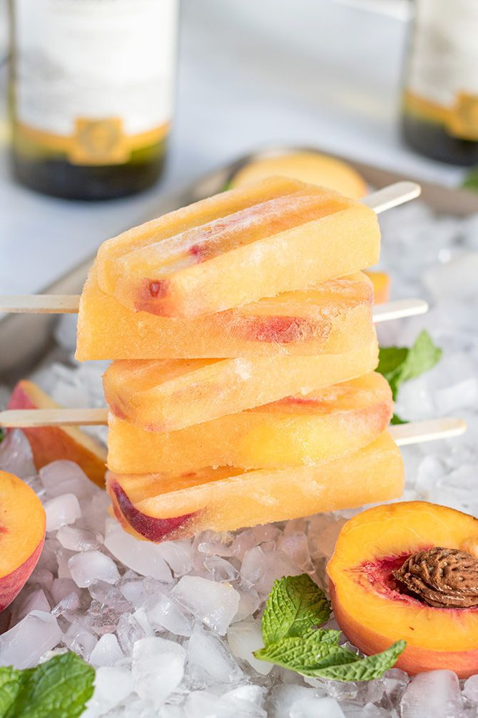 Peach Wine Pops
