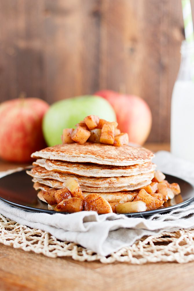 Apple Cinnamon Protein Pancakes