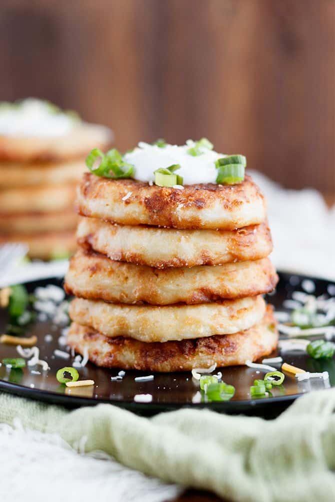 Cheesy Potato Pancakes
