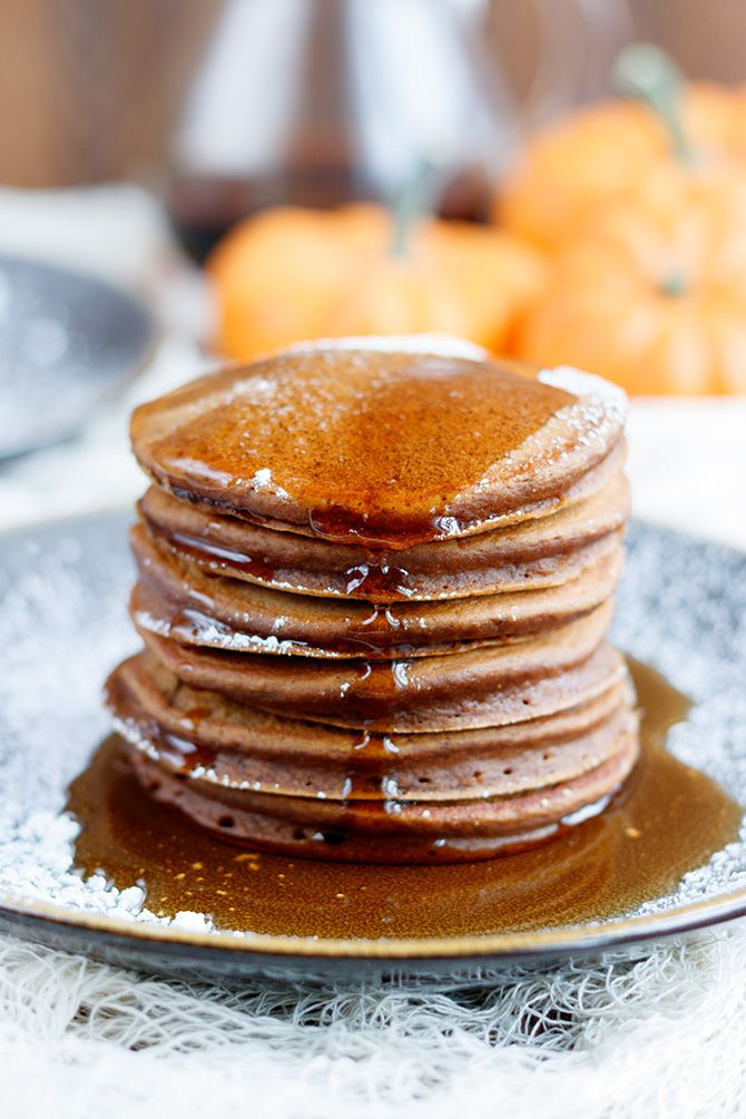 Chocolate Pumpkin Pancakes