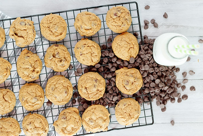 Pumpkin Espresso Chocolate Chip Cookies