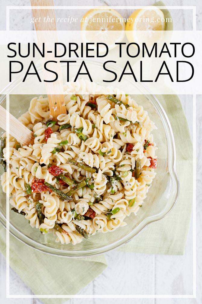 Sun Dried Tomato & Asparagus Pasta Salad - JenniferMeyering.com