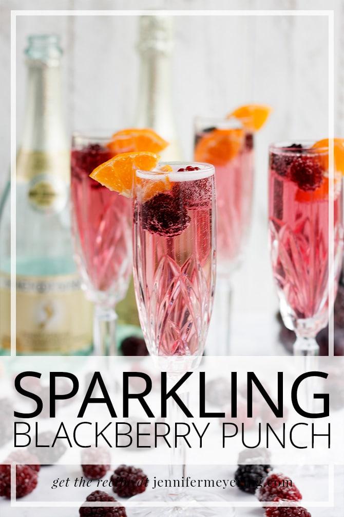 Sparkling Blackberry Punch - JenniferMeyering.com