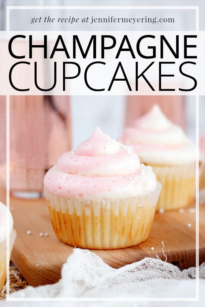 Champagne Cupcakes - JenniferMeyering.com