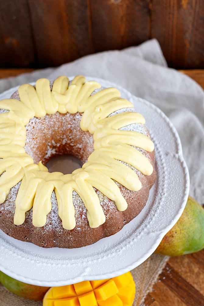 Mango Glazed Bundt Cake