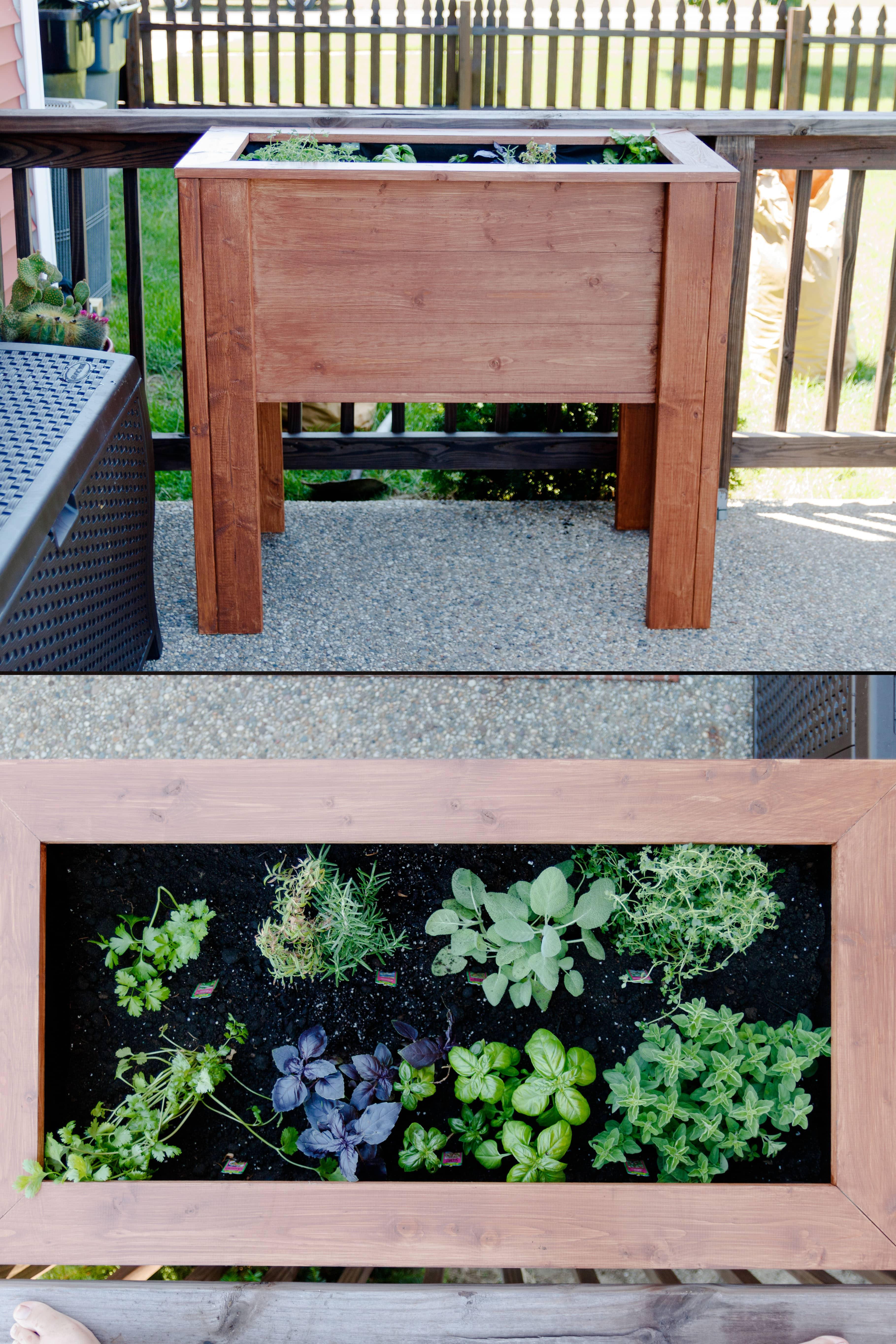 DIY Raised Garden Planter Box