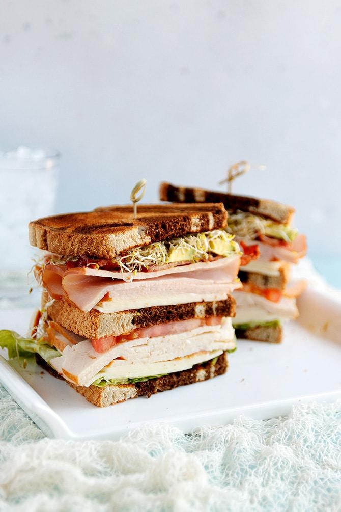 Turkey Avocado Club Sandwich