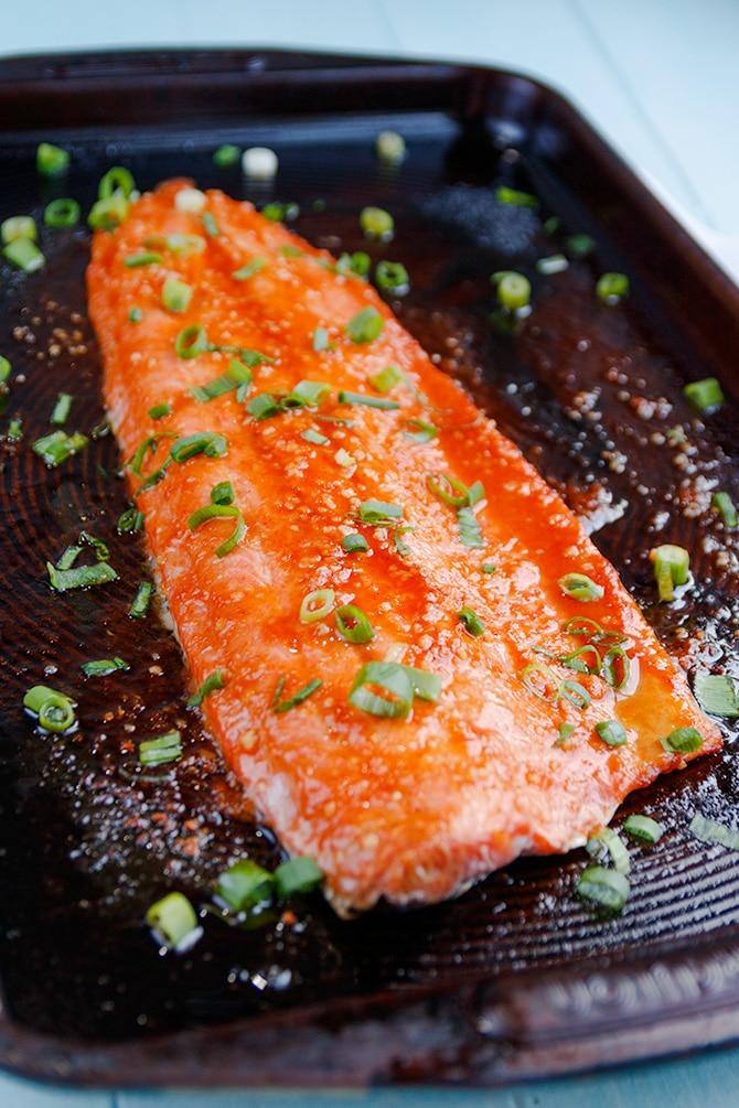 Honey Ginger Sriracha Salmon