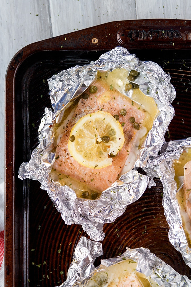 Lemon Caper Salmon
