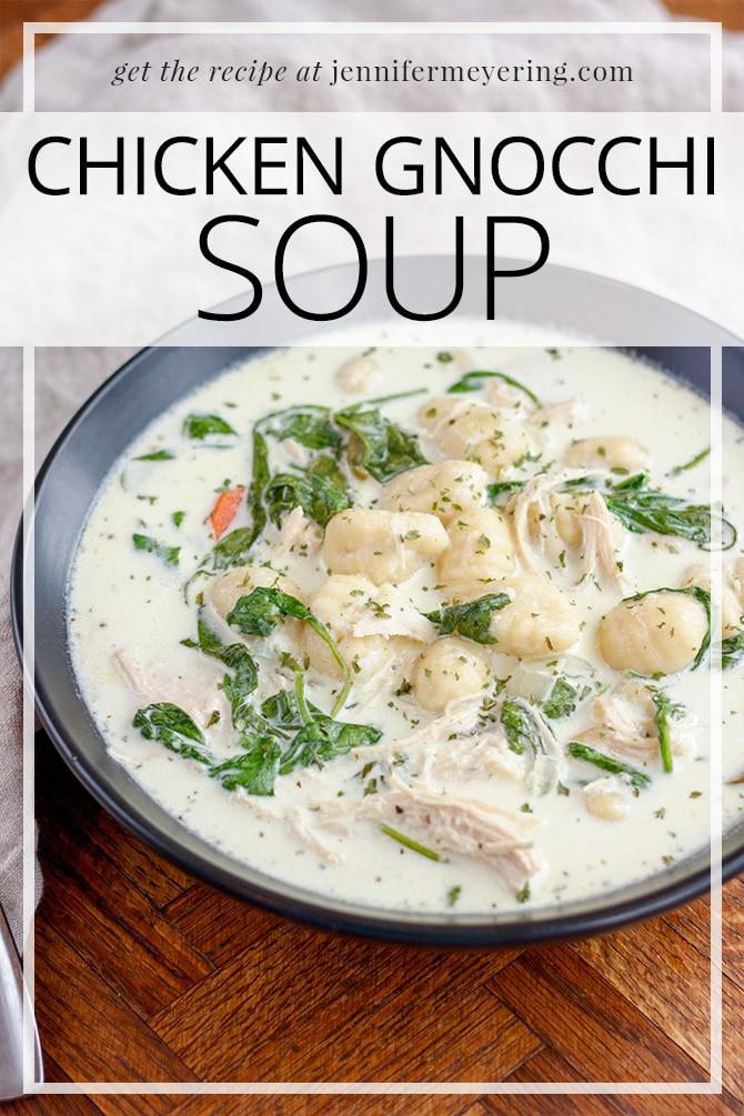 Chicken Gnocchi Soup - JenniferMeyering.com