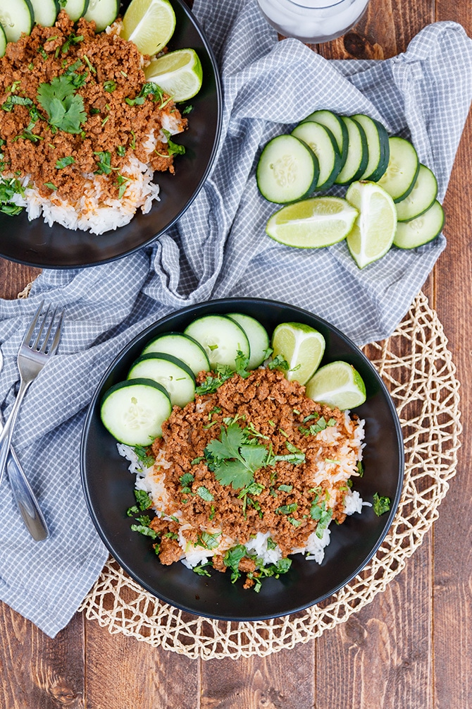 Coconut Curry Beef & Rice Bowls