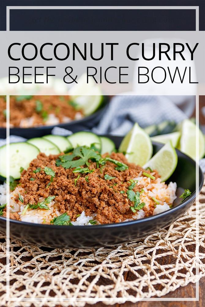 Coconut Curry Beef & Rice Bowls - JenniferMeyering.com