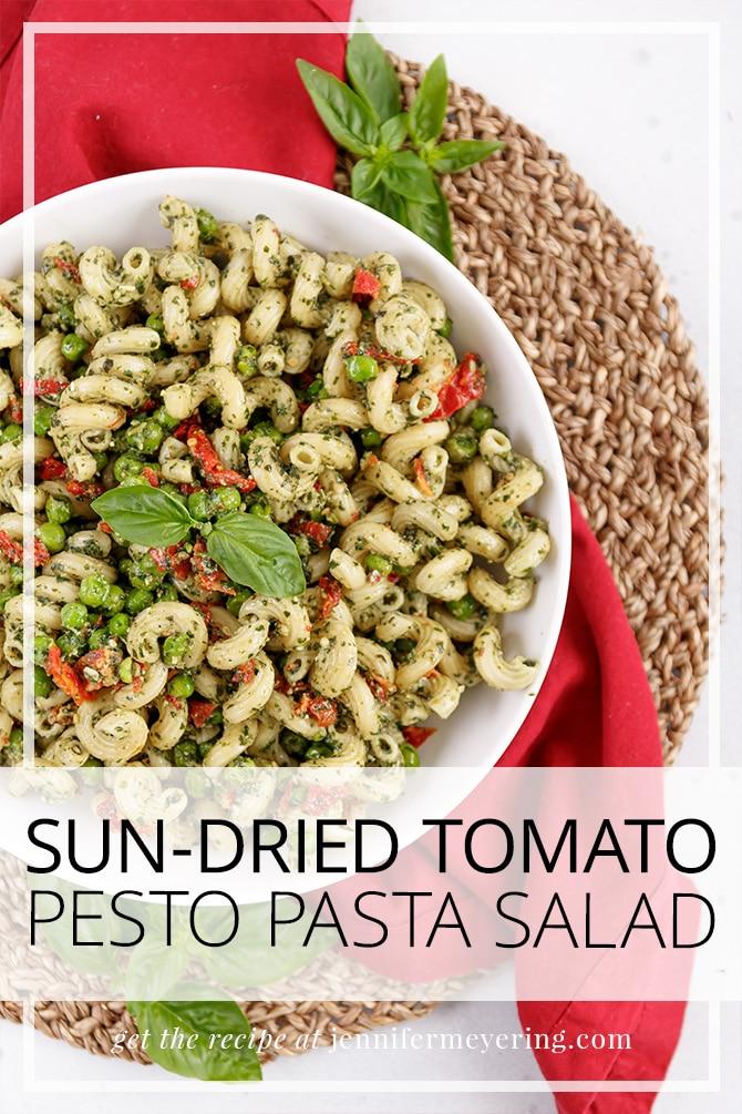 Sun-Dried Tomato Pesto Pasta Salad - JenniferMeyering.com