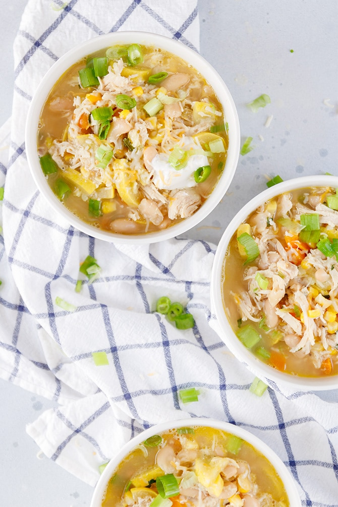 Summer Vegetable Chicken Soup
