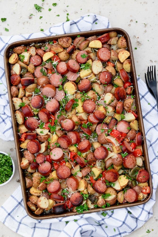Sheet Pan Sausage & Potatoes