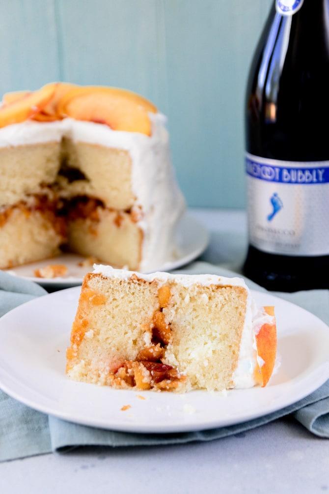 Peach Prosecco Cake